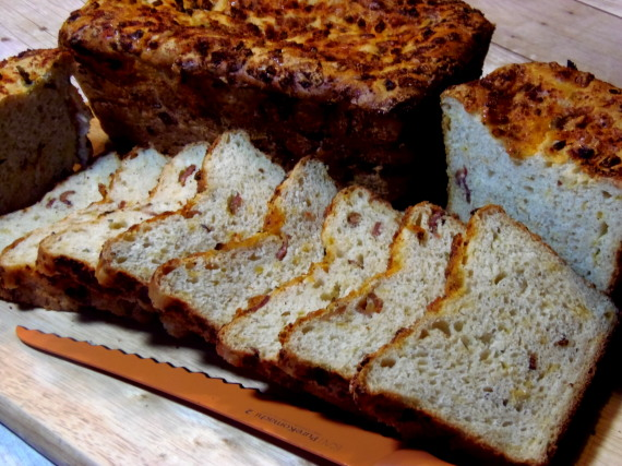 Bacon, Cheddar and Scallion Bread - Kudos Kitchen by Renée