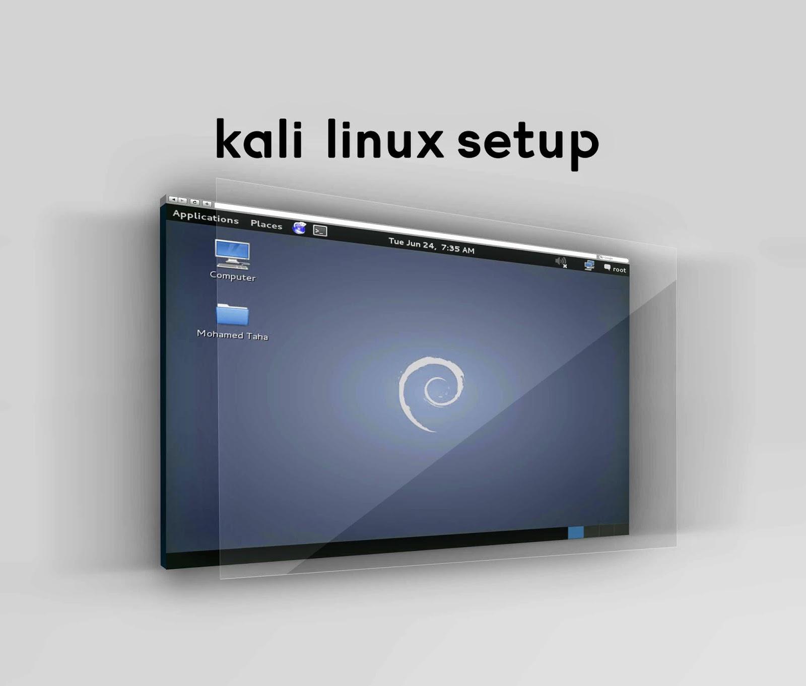 شرح تسطيب kali linux