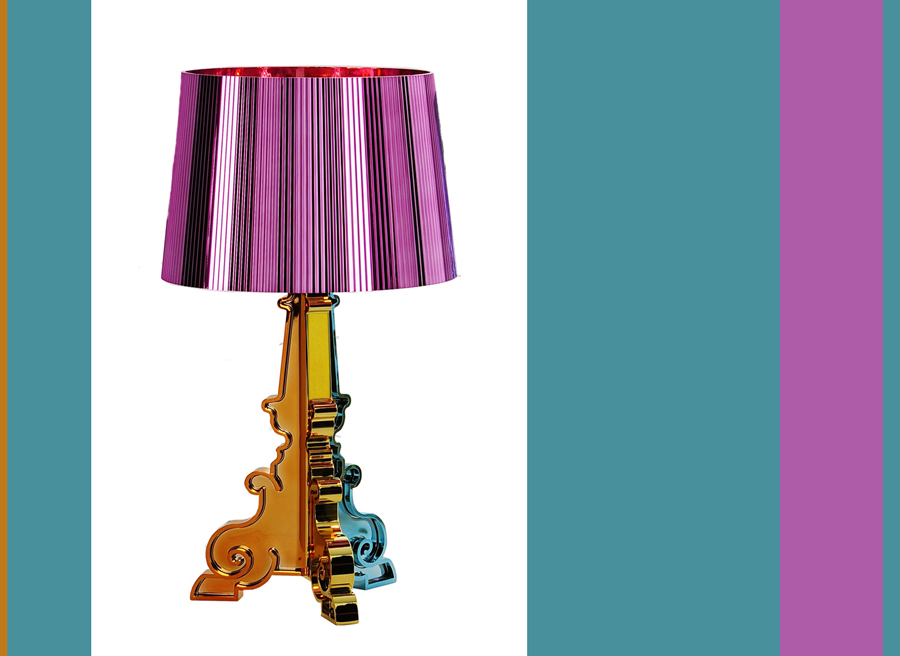 bourgie metallic multi color lamp from kartell. Black Bedroom Furniture Sets. Home Design Ideas