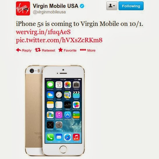 IPhone 5S and 5C Coming to Virgin Mobile USA Oct 1 ...