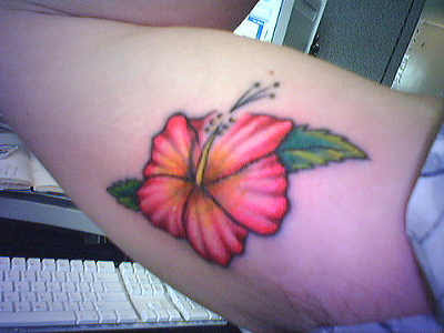Hawaiian Flowers Pictures Tattoos