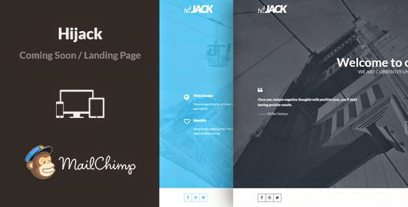 Hijack - Minimal Responsive Coming Soon Template