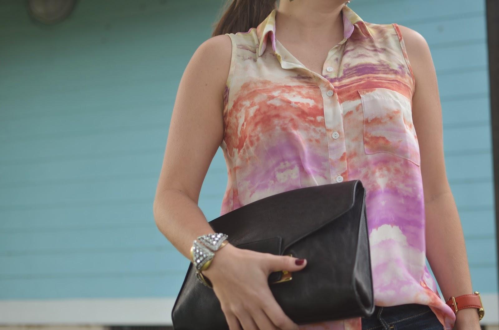Abstract top - dark denim - clutch - #emma_Sophia