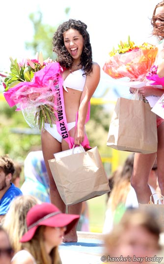 Happy winner - Miss Waimarama 2013 photograph