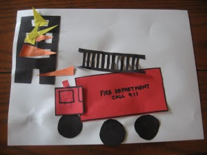 Fire Truck Craft Preschool http://jennifischer.blogspot.com/2012/03/weekly-kids-co-op-fire-safety-crafts.html