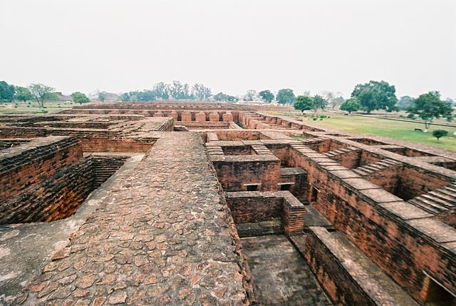Ruins of 5AD ancient nalanda University, Destroyed in 12 century by Muslim invaders