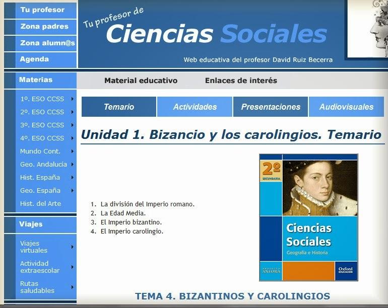 http://www.profedesociales.com/enlaces/materias/dos_eso/uno_bizancio_carolingios/temario_bizancio_carolingios.html