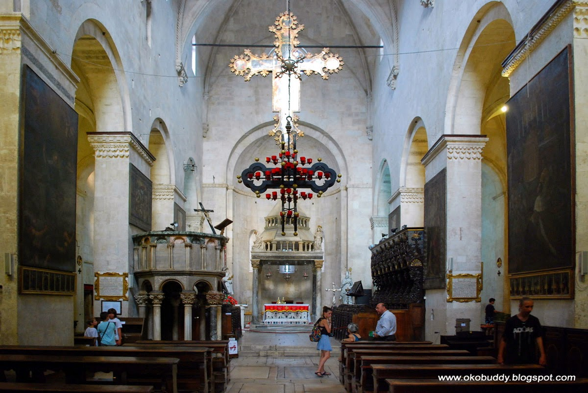 Cathedral of St. Lawrence. Inside. Trogir. Croatia