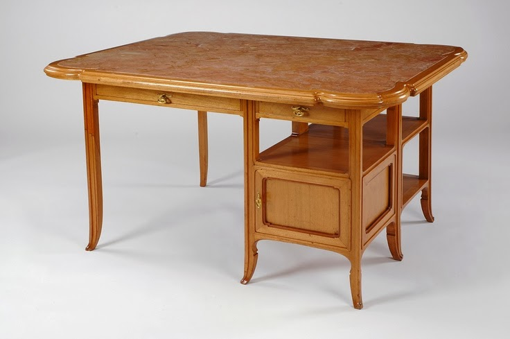 Art nouveau desk from the Hotel Solvay, Victor Horta, 1906. (collection of the Virginia Museum of Fine Arts)