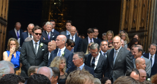 Michael Ovitz at memorial service for Jimmy Lee