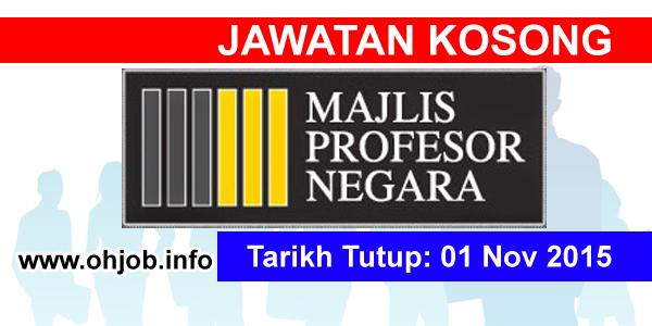 Jawatan Kerja Kosong Majlis Profesor Negara logo www.ohjob.info november 2015