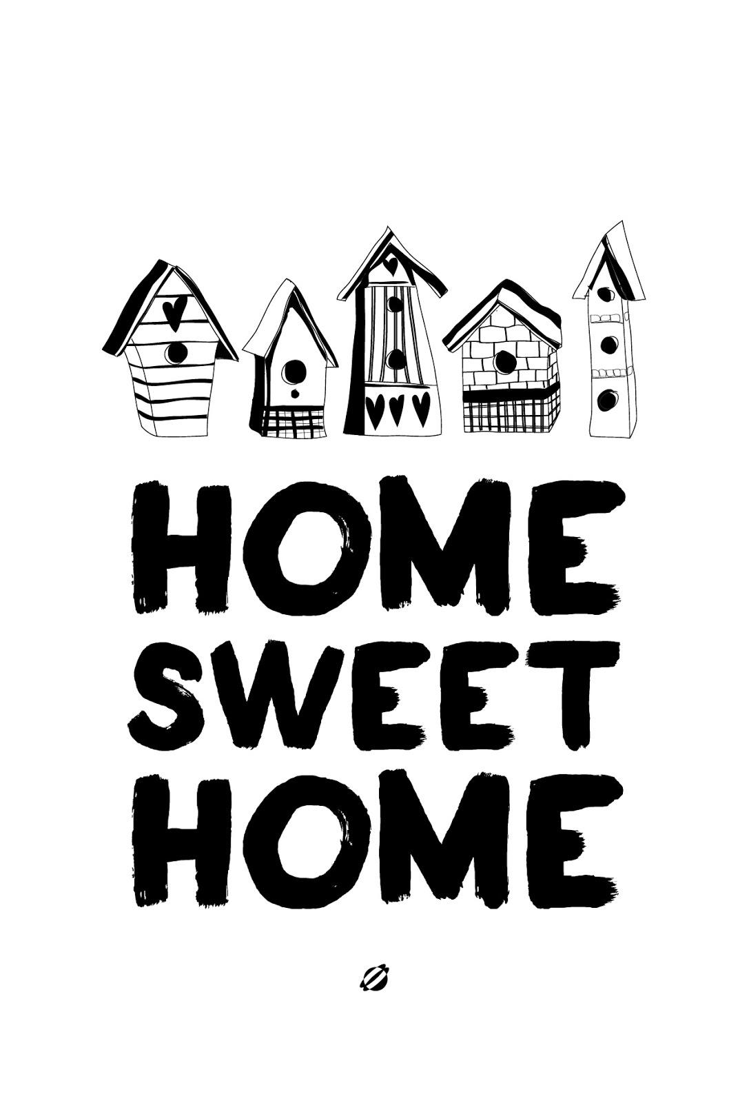 LostBumblebee ©2014 Home Sweet Home FREE PRINTABLE - BW