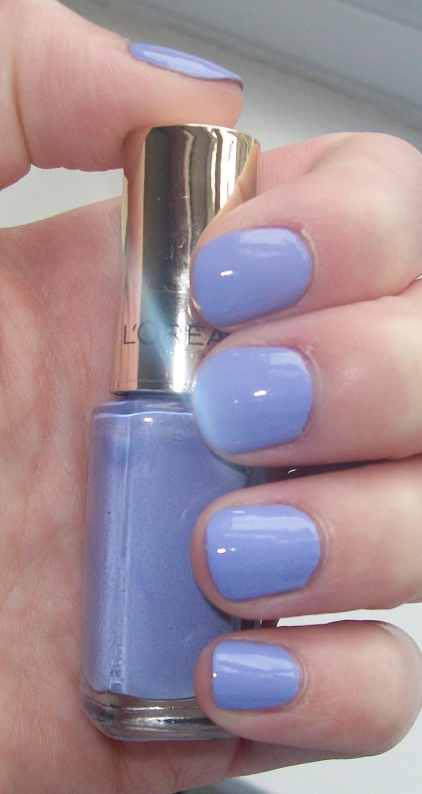 The Lardy Grub: L\'Oreal Color Riche Polish-507 Riviera Lavender