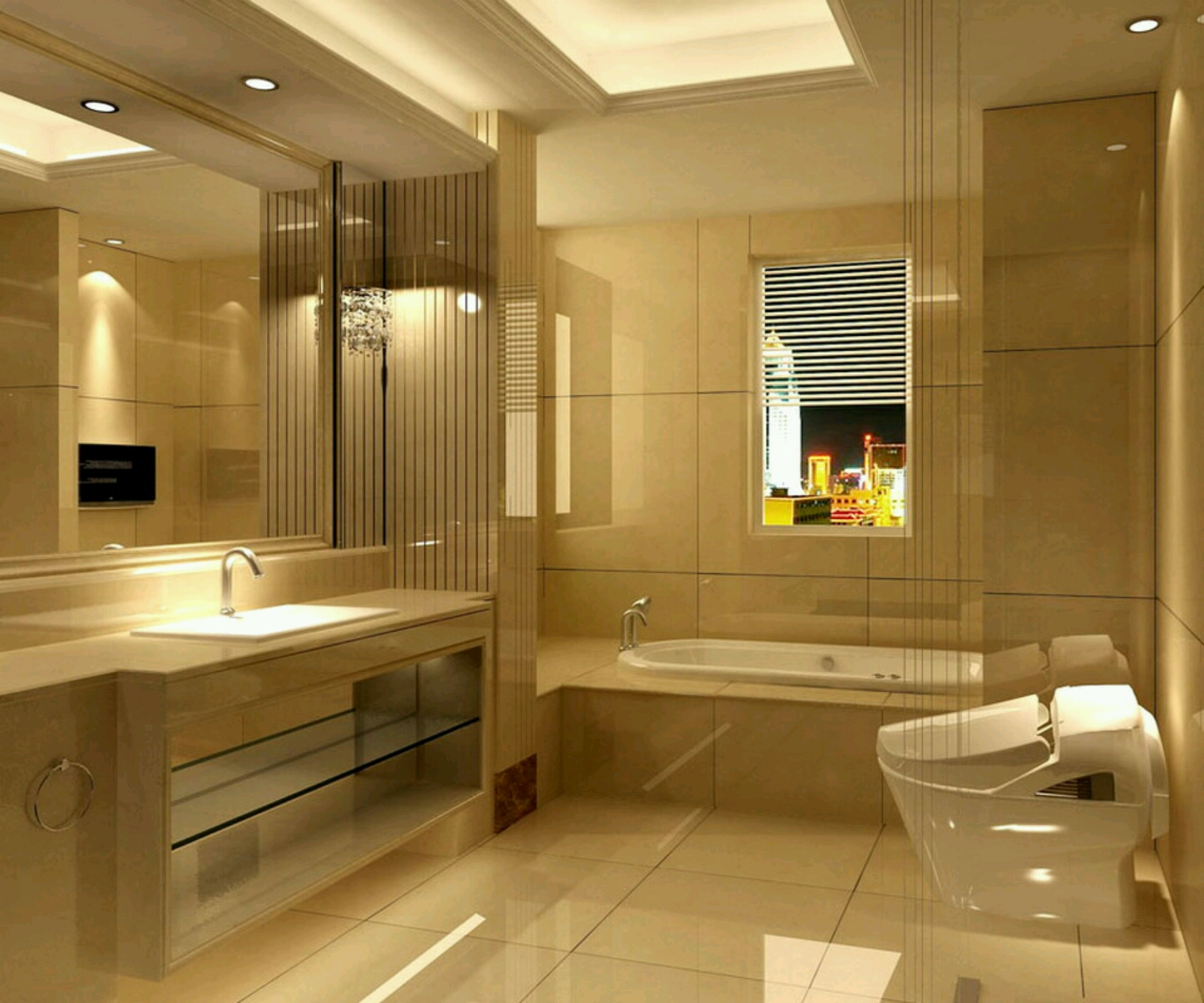 Modern bathrooms setting ideas furniture gallery for Pictures of new bathrooms