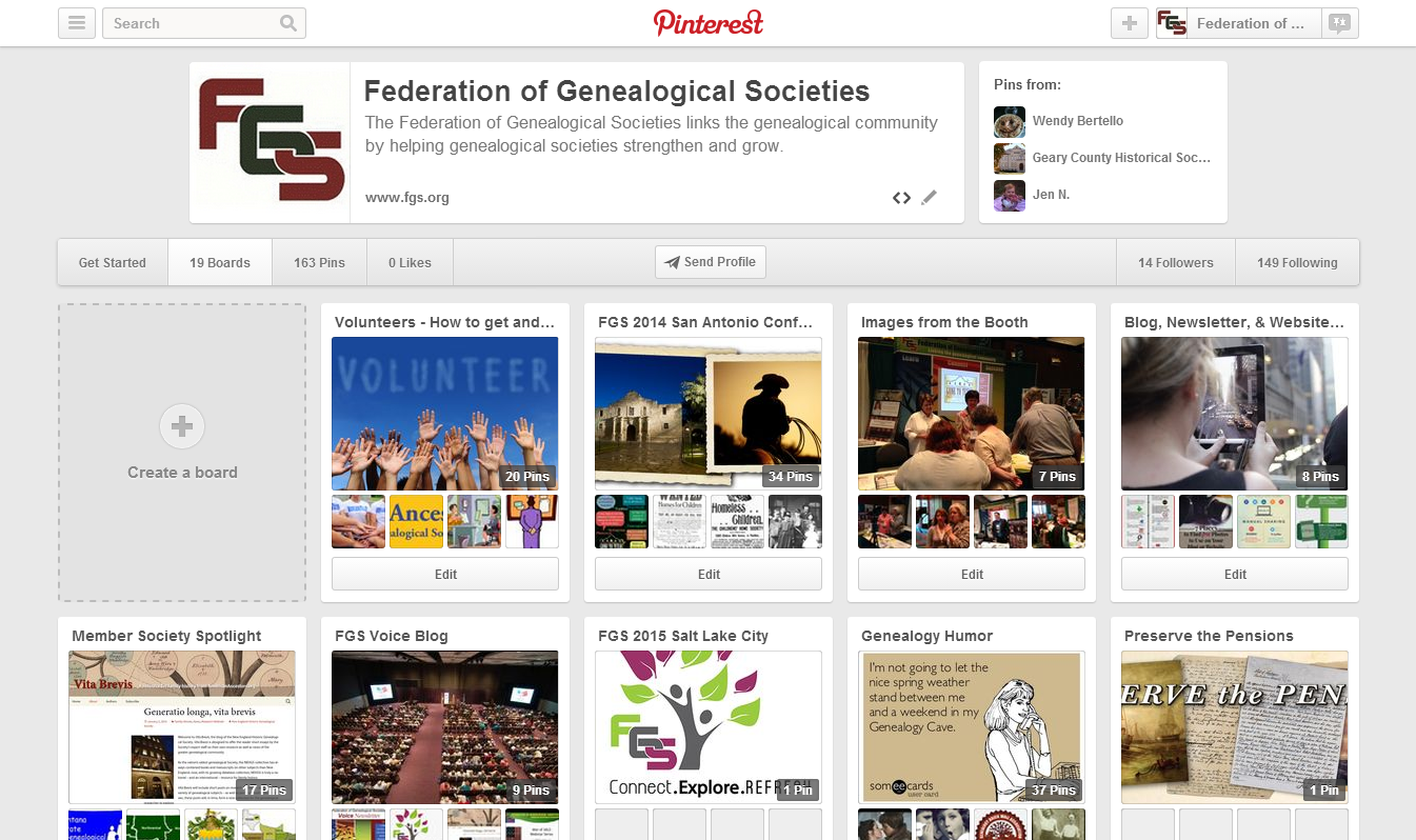 FGS is now on Pinterest.