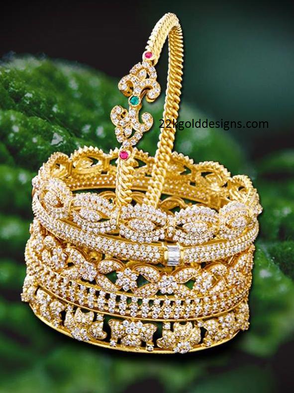 kirtilals diamond bangles design 22kgolddesigns