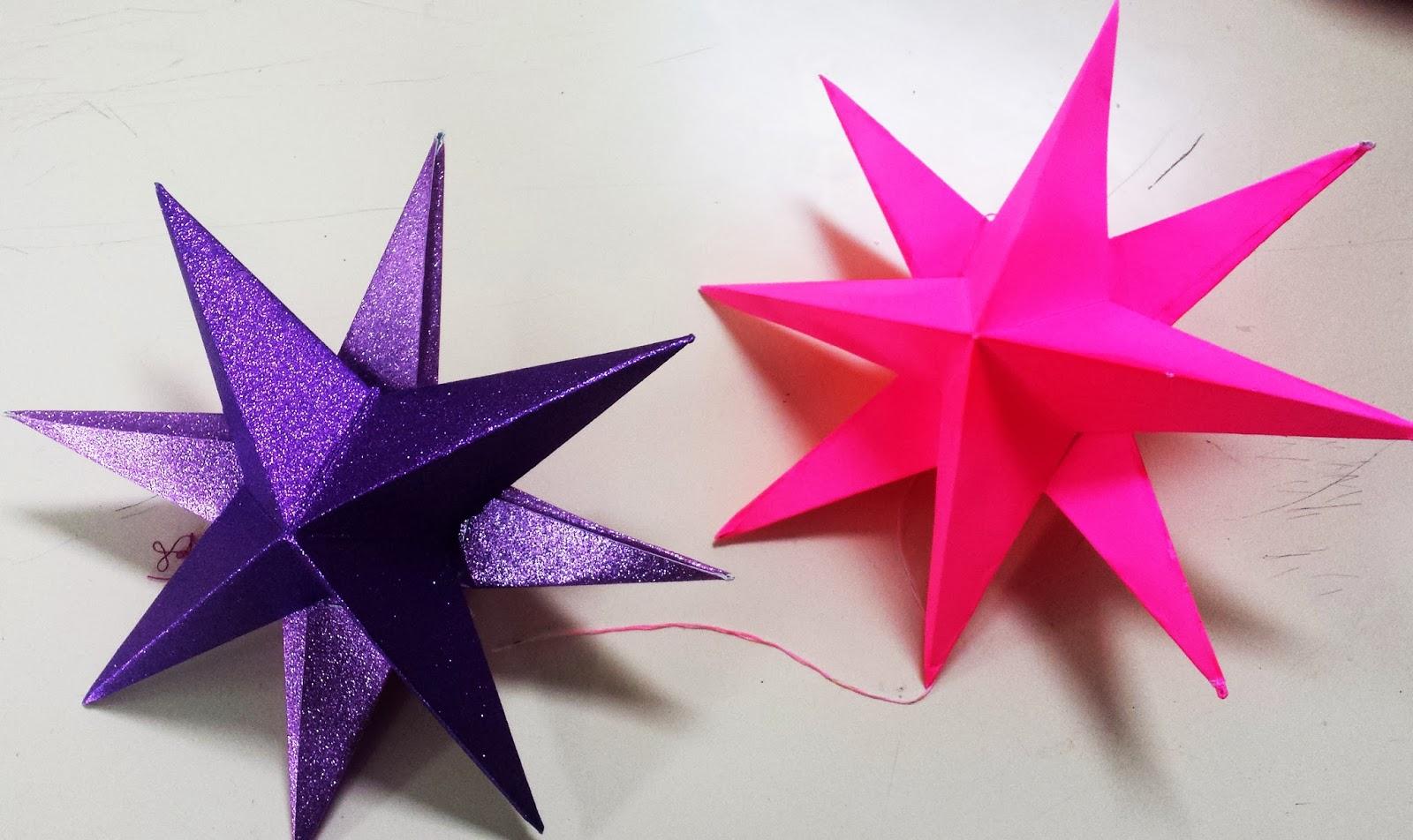 Enplasticados estrellas de papel 1er eso - Estrellas de papel ...