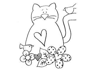 Riscos para pintura de gatinhos