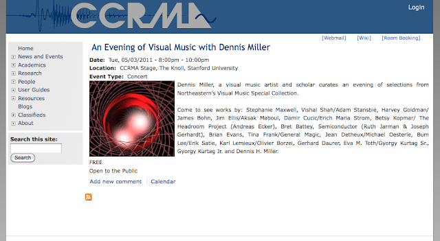 An Evening of Visual Music with Dennis Miller