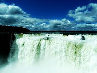 Garganta do Diabo, no Parque Nacional de Iguazú, em Puerto Iguazú, na província de Missiones, na Argentina.