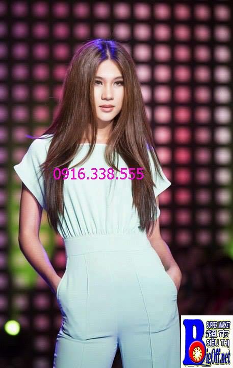 Đồ Bay Jumpsuit người mẫu Minh Triệu Cánh Dơi Xanh