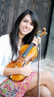 Reagan Bachour, posed, with violin