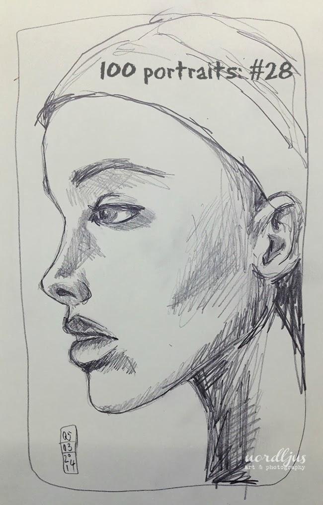100 portraits 28 pencil drawing
