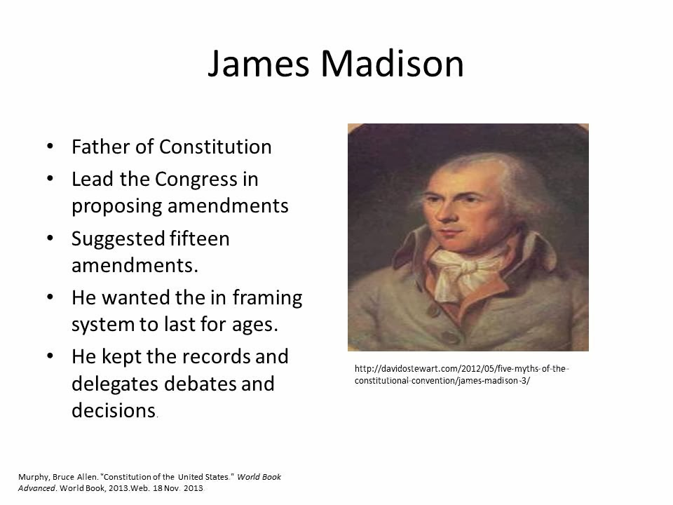 biography of james madison the father of These were thomas jefferson, james monroe, and james madison the latter was born at the house of his maternal grandmother, on the banks of the rappahannock, in virginia, on the 16th of march, 1751 his parents resided in orange county, and there, during a long life, the eminent statesman lived.