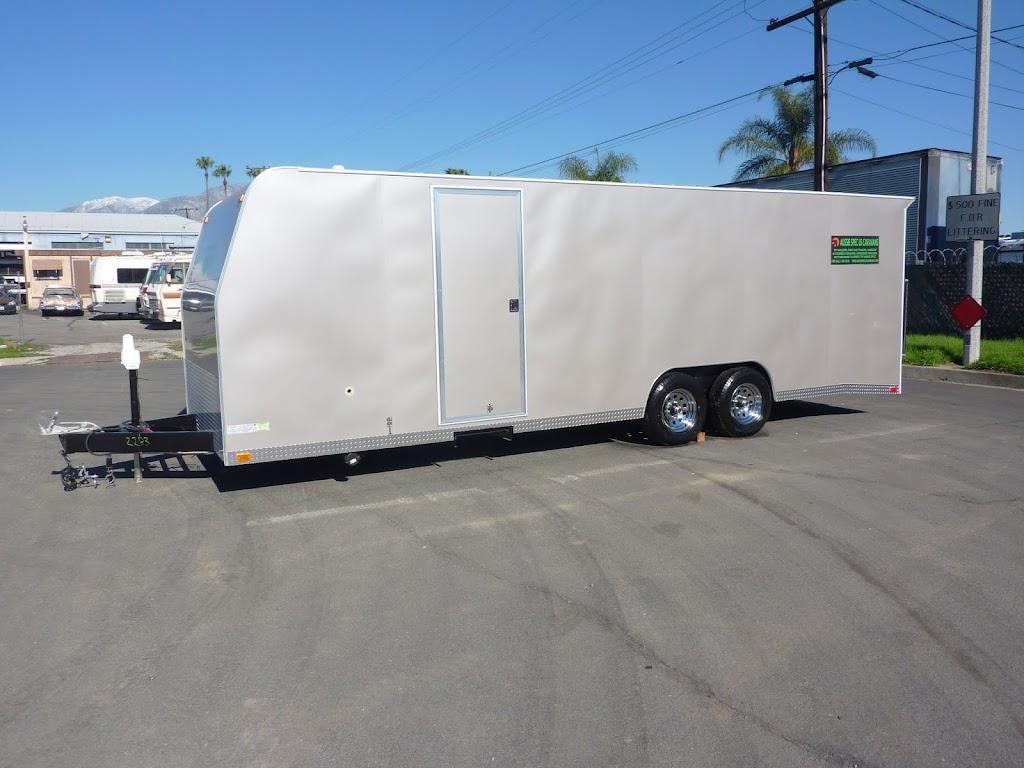 AUSSIE SPEC US CARAVANS: Loading a Race Car Trailer in A Container