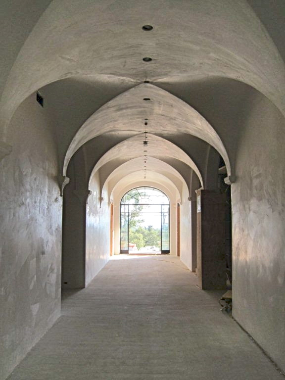 Lua hand made plaster details montecito luxury home builder for Groin vault pictures