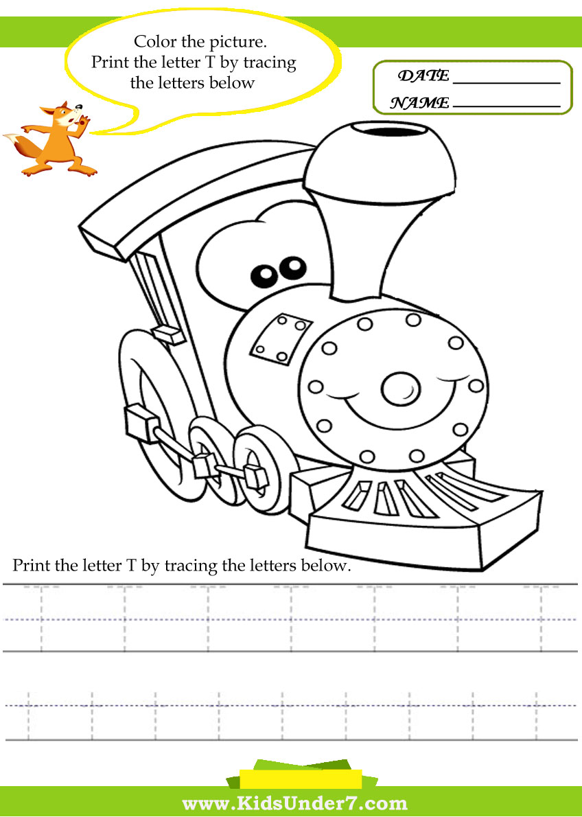 Kids Under 7 Alphabet worksheetsTrace and Print Letter T – Letter T Worksheets