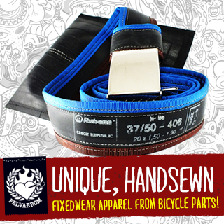 Felvarrom | Fixedwear apparel from Bicycle parts!