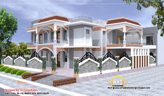 Indian home design - 5100 Sq. Ft. (474 Sq.M.) (567 Square Yards) - April 2012