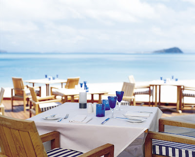 Beachside dining at Hayman