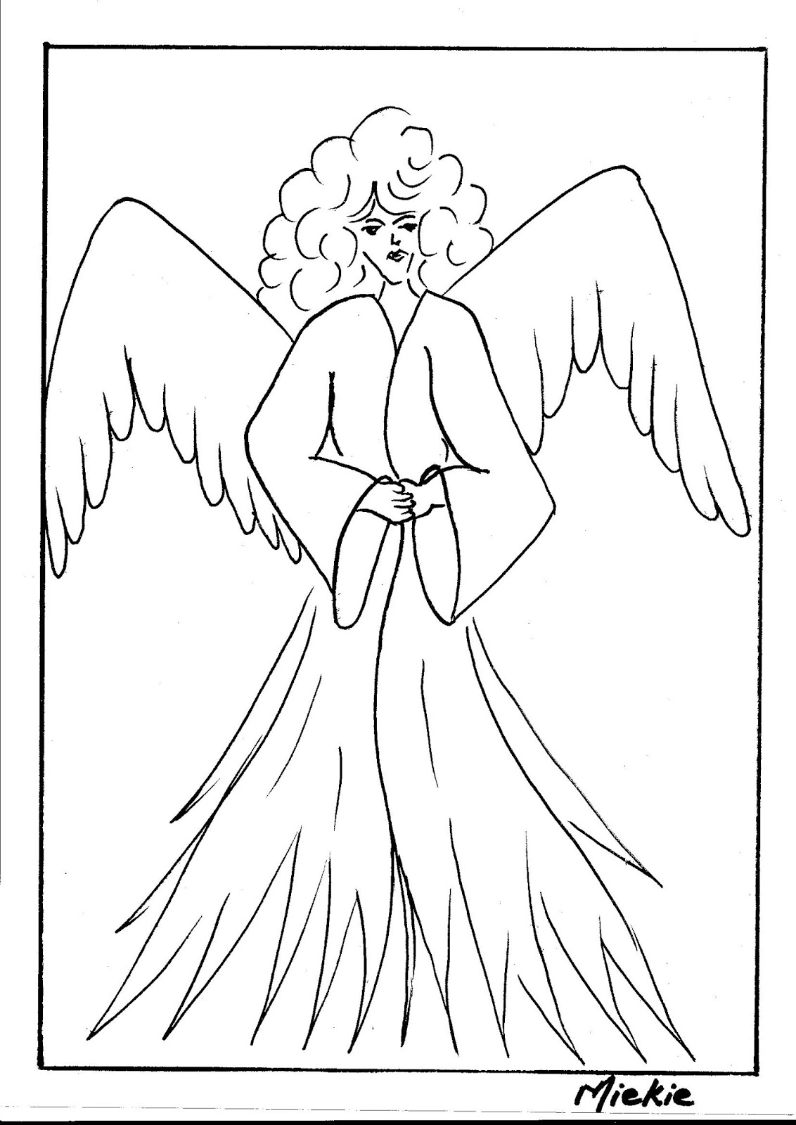 Christmas tree drawing outline - In Today S Blog I Show You How To Draw The Nativity Scene An Angel And A Christmas Tree In The Previous Blog I Shared The Steps For Santa Clause And A