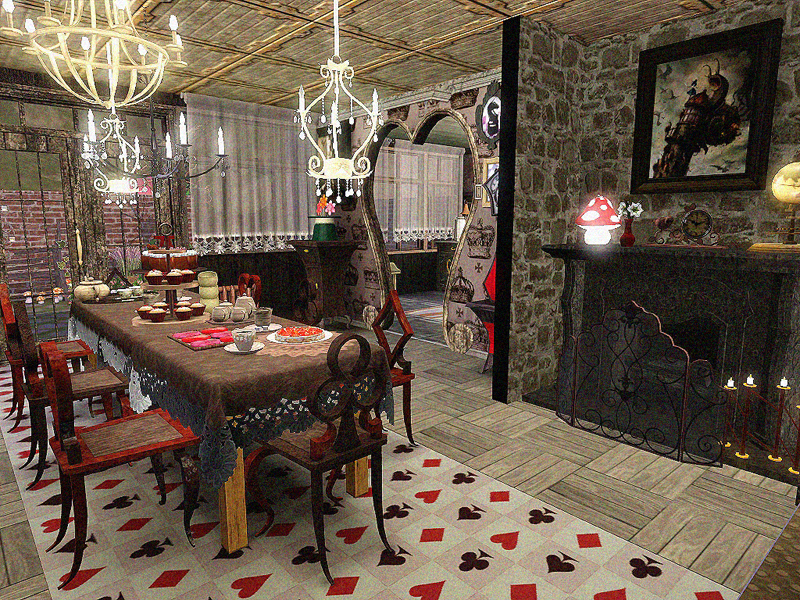 My Sims 3 Blog: DOTY Round 2 -Alice in Wonderland Kitchen & Dining