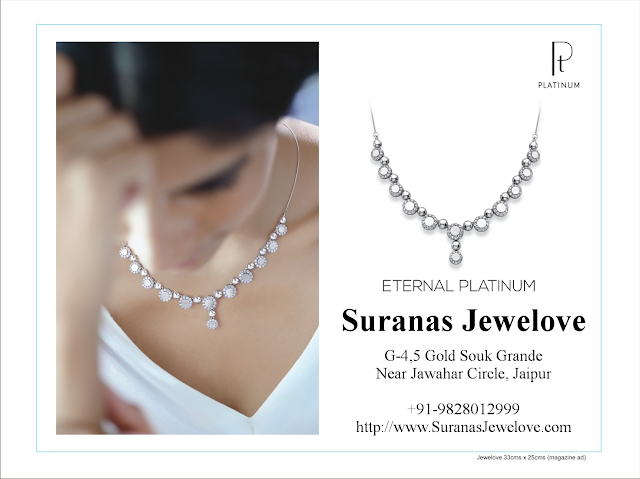Platinum Necklaces by Suranas Jewelove Jaipur