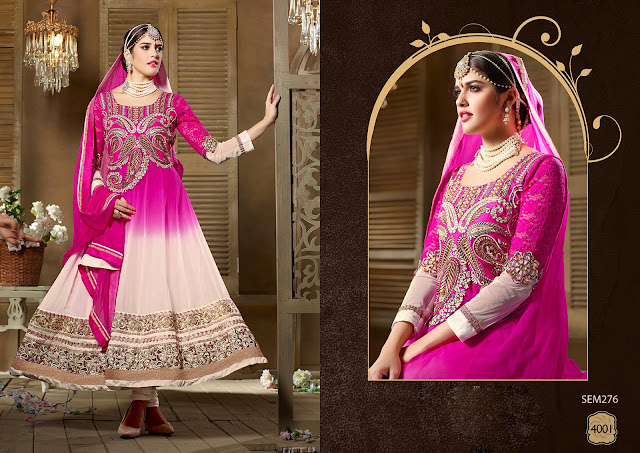 New Indian Designer Pakistani Style Embroidered Long Anarkali Suit