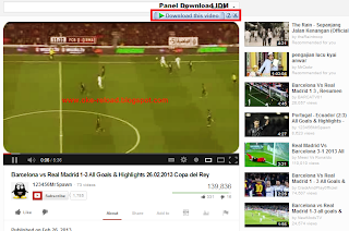 Panel Download IDM di Youtube Muncul