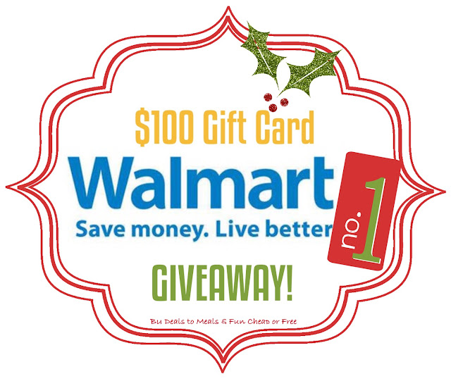 12 Days of Giveaways, Deals to Meals, $100 Walmart Gift Card