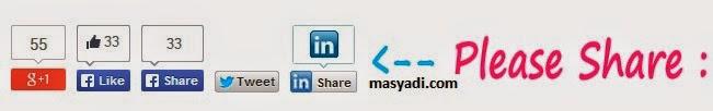 Cara Membuat Tombol Share di Blog seperti Evo Magz