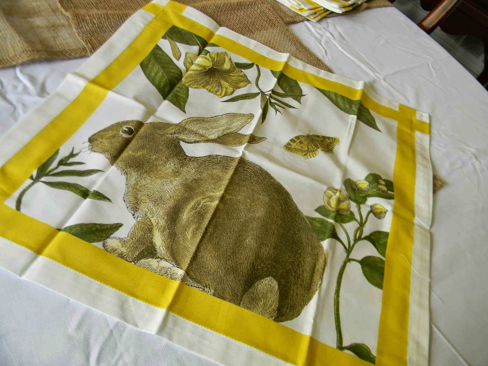 A Toile Tale Bunnies And Burlap