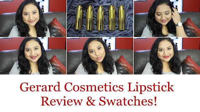 Gerard Cosmetics Lipstick Review And Swatches!