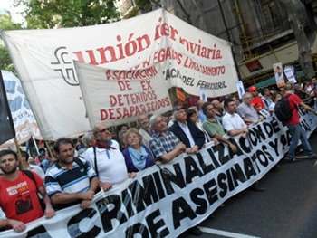 Libertad y democracia sindical, no a la criminalización de la protesta.