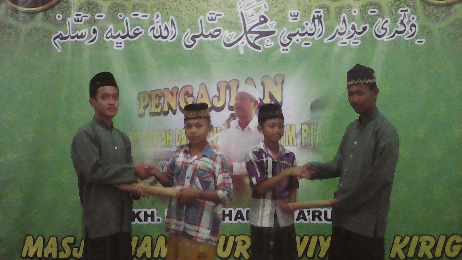 Pemenang Lomba Peringatan Maulid Nabi Muhammad SAW Desa Kirig