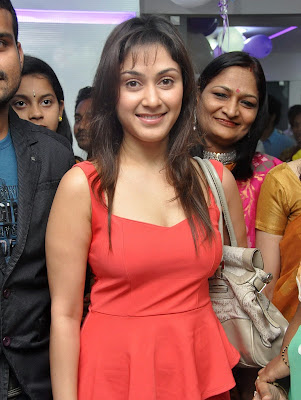 Manjari+(11) Manjari Phadnis Super Hot Photos in Red Dress At The Launch Of Naturals Family Salon & Spa
