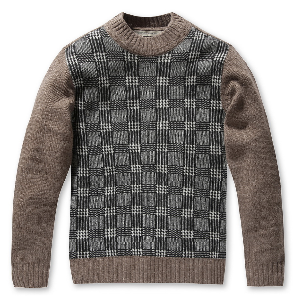Glen Plaid Knit Sweater