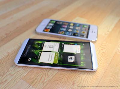 Hình ảnh so sánh Blackberry Z10 và Iphone 5