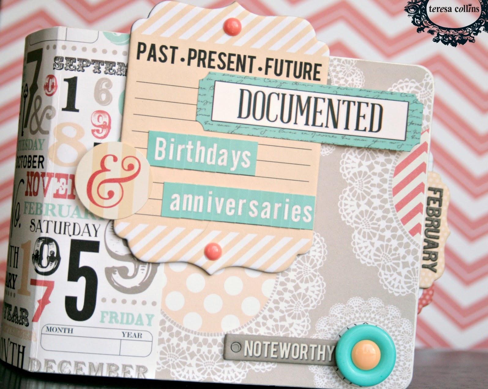 Book Cover Using Photo ~ Teresa collins design team calendar mini album tutorial