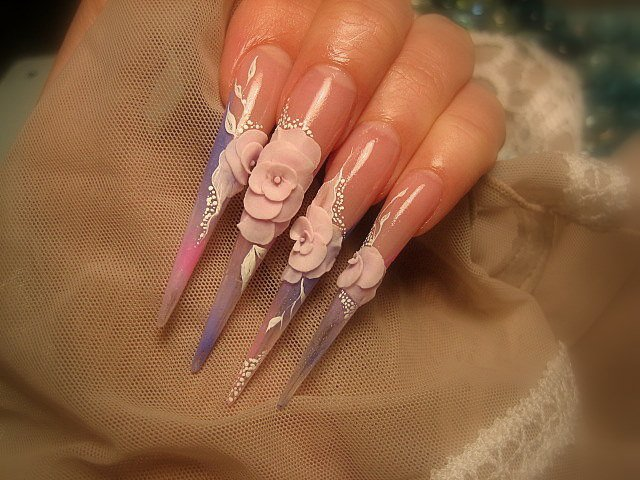 The Appealing Short Stiletto Nail Designs Images